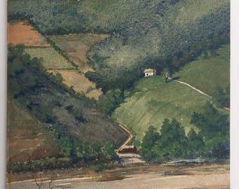 Paul Starrett Sample (1896-1974) Vermont Watercolor painting