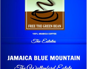 Fresh Roasted Jamaica Blue Mountain, Wallenford Estate Coffee. 100% pure certified Jamaica Blue Mountain Estate Coffee. 12oz Whole Bean Only