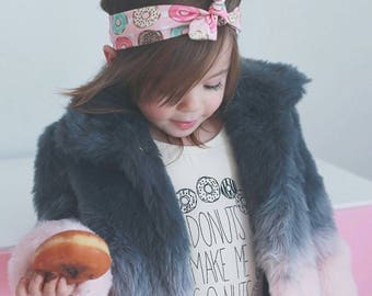 Pink Donut Top Knotted Headband