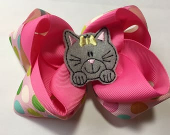Meow- kitty cat hair bow