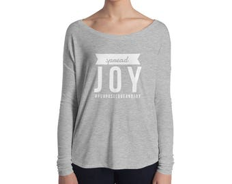 Spread Joy Ladies' Long Sleeve Tee