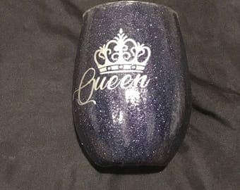 Queen Sparkle Wine Glass