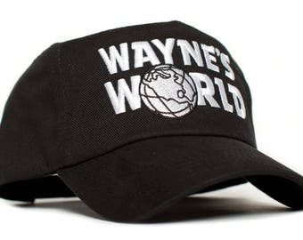 WAYNE'S WORLD Embroidered Cotton Twill TV Cap Hat Snapback