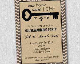 House Warming Party Invitation, New Home Announcement, New House, Open  House Invitation Any