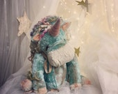 Reserved for L~*~ OOAK unique artist teddy bear vintage collectable unicorn doll