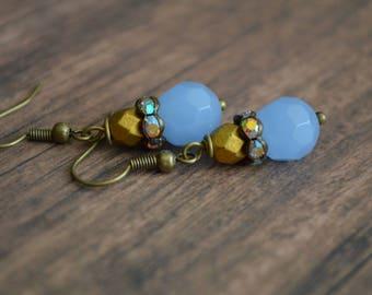 Vintage Style Earrings, Wedding Earrings, Handmade Earrings, Gift Idea, Gift For Her, Bridal Party, Elegant Earrings,