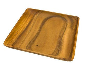 Mid-Century Monkey-Pod Wood Tray
