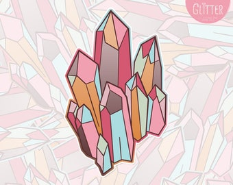 Autumn Crystals Holographic Sticker