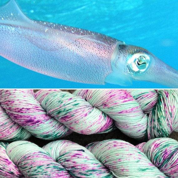 Caribbean Reef Squid, merino nylon blend speckled sock yarn
