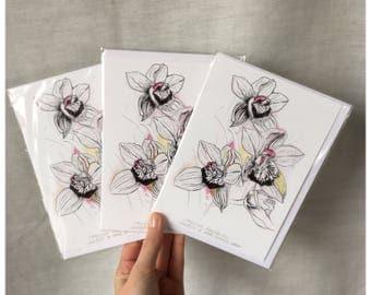 Oxford Botanical Gardens - Greetings Card - Small Flowers Art Print