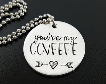 Covfefe Necklace, Covfefe Tweet Donald Trump, #COVFEFE, You're My Covfefe, Anti-Trump Necklace, Democrat Jewelry, Liberal Necklace