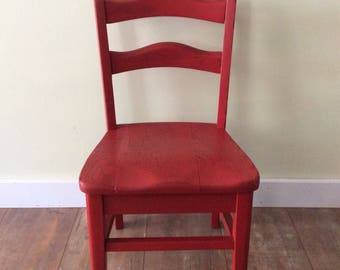 Painted Childs Chair Red