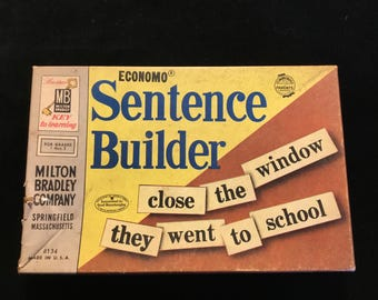 Milton Bradley Sentence Builder Pieces