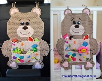Crochet Pattern - Teddy Bear Organizer