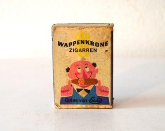 Vintage Cigarette Collector Matchbox / Vintage Cigar Matchbox / Vintage Wappenkrone Zigarren Matchbox / Vintage Big Crown Cigar Matchbox