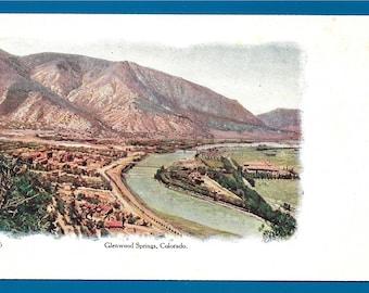 2 Vintage Embossed Postcards - Glenwood Springs and Pikes Peak from Briarhurst in Colorado  (2738)