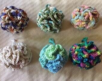 Cotton Loofah/bath sponge#1 (ORIENTAL OCHRE)