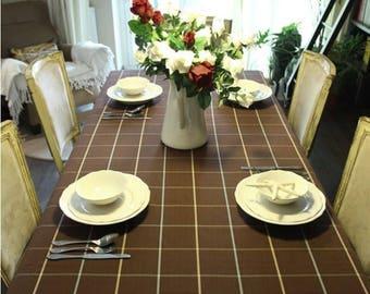 150cm / 60 inch Width, Classic Checkered Checks Stripe Canvas Fabric for Cushion Curtain etc, Half Yard