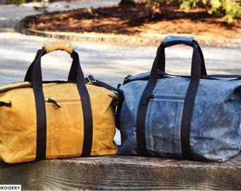 BLUE Waxed Canvas Weekender Bag, Christmas Gift, Travel Bag, Waxed Canvas Bag, Gift for Dad, Luggage & Travel, Waxed Canvas Duffel