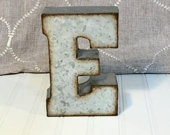 Small Galvanized Metal Letters Small Metal Letters  Etsy