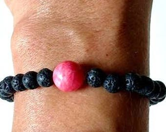 Essential Oil Aromatherapy Lava Bead Rose Bead Relaxation Tranquility Bracelet