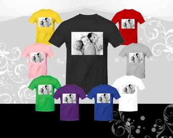 Customized Photo Shirt, Personalized Photo Shirt, Custom pictures, Create Your Own Shirt, Family Reunion Shirt