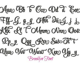 POPULAR GIRL FONTS for Monograms - Choose which font you'd like to use on your bedding & accessories.