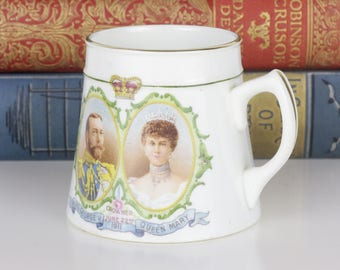 Royal Winton Mug - King George V And Mary Coronation 1911