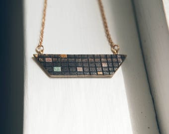 Geo Checkered Necklace