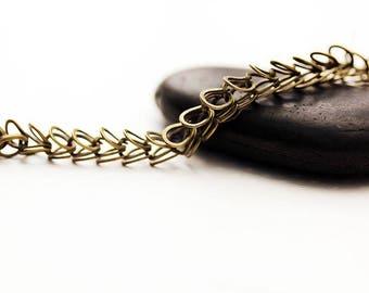 fancy Rivoly bronze chain dangles