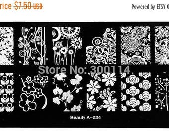 On Sale 2016 NEW, nail stamping plate,  beauty 24  Nail Art