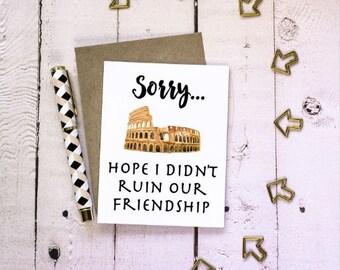 Sorry - Friendship - Im Sorry - Greeting Card