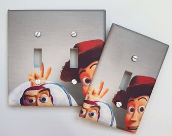 Toy Story light switch plate cover Woody Buzz // switch plate // boys room nursery // Personalized // SAME DAY SHIPPING! **