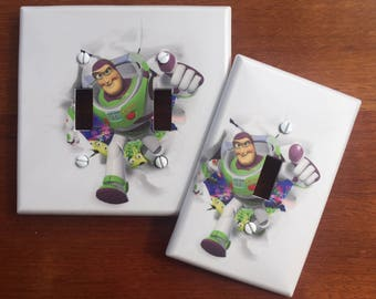 Toy Story light switch plate Buzz Lightyear // switch plate cover // boys room nursery // Personalized // SAME DAY SHIPPING! **