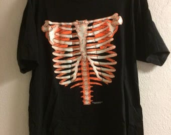 Vintage 1991 Glow In The Dark Skeleton Shirt