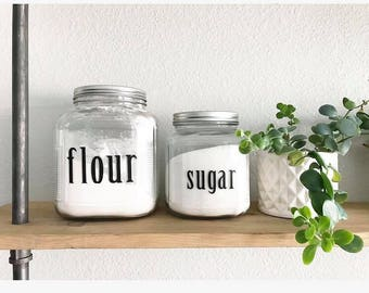 Flour & Sugar Labels
