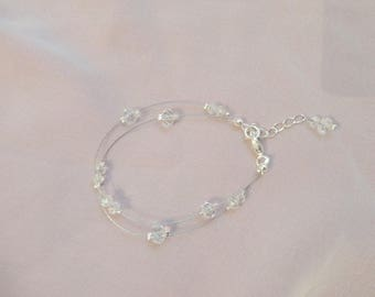 Wedding bracelet, Bridal bracelet - Czech Crystal beads - nickel free - set - wedding necklace