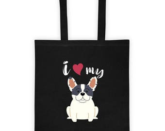 Love My French Bulldog Tote bag
