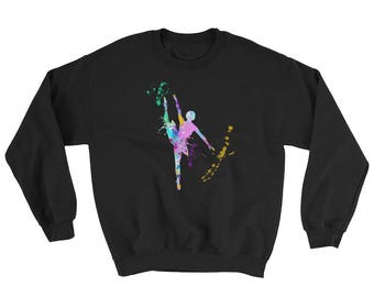 Ballet Gifts, Ballet Sweatshirt, Ballet Sweater, Love Dancing, Love Ballet, Ballet Lovers, Ballet Art, Ballet Watercolor, Ballet Graphic