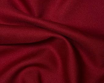 "Crimson Red - Polyester Twill Plain Fabric 150cm (59"") Wide Dressmaking Material"