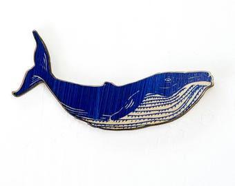 Fridge Magnets - Whale Wood Magnet - Refrigerator Humpback Whale  Magnet