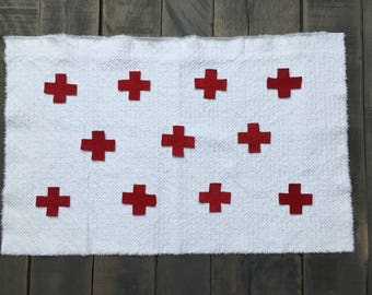 Red Cross quilt square kit