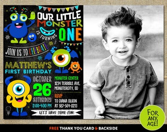 Monster invitation Monster birthday Invitation Monster invitation first birthday Monster invitation with picture Monster invitation birthday
