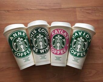 Personalised Starbucks 16 0z Coffee Cup