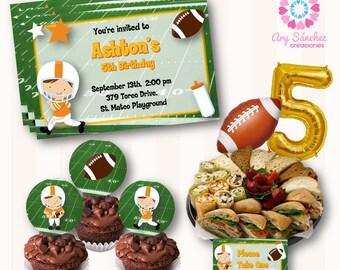 Editable-printable football Party Kit