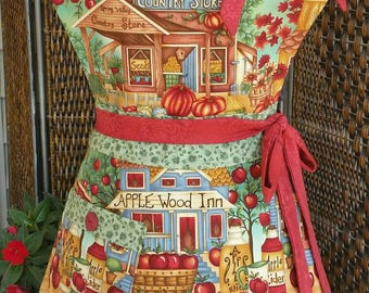 Small Town Harvest Apron! Feminine and Beautiful!