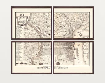 Philadelphia map Etsy