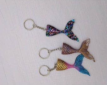 Mermaid/ Sugar Skull/ Rose keychain **free shipping***