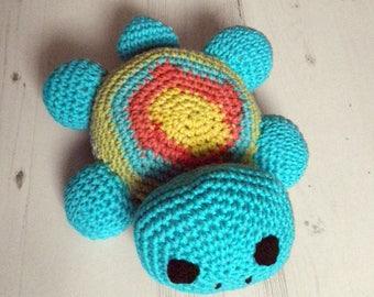 colorful turtle crochet nursery decor
