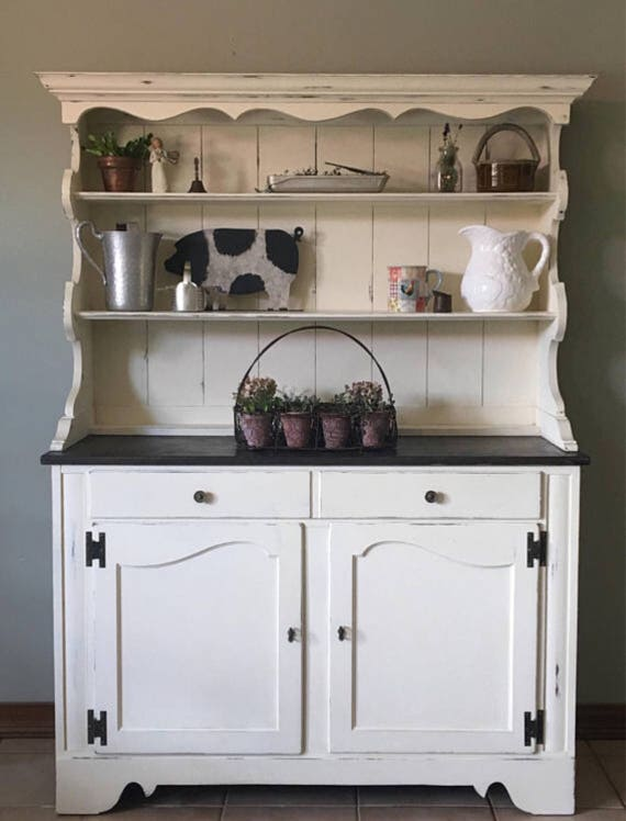 kitchen china cabinet vintage hutch farmhouse country cottage rustic kitchen 3353